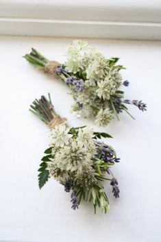 If you're going for a country garden look dried lavender works beautifully. Could it also be your something blue...