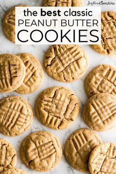 Being on a low-carb diet doesn't meet you have to skip dessert. With some smart ingredient swaps, you'll be able to enjoy healthier versions of the comfort foods you already know and love, from cookies and ice cream to cheesecake. Chewy Sugar Cookie Recipe, Classic Peanut Butter Cookies, Peanut Butter Cookie Recipe, Healthy Peanut Butter, Natural Peanut Butter, Cookie Recipes, Dessert Recipes, Delicious Desserts, Low Carb Desserts