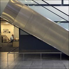 This under-escalator guard rail is a nice design touch, though I would think… Under Stairs, Railings, Mercedes Benz, Cool Designs, Safety, Public, Retail, Touch, Nice