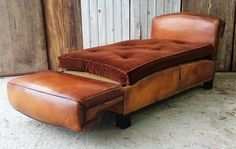French leather day bed.
