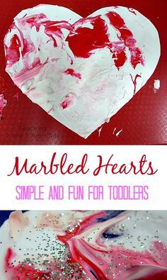 2-Ingredient Valentine Art - Teaching 2 and 3 Year Olds