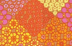 Shop | Category: Fabric Designers - Other | Product: KAFFE COLLECTIVE - TILE FLOWERS - PWGP125 GOLD