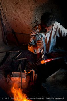 Glass blower . Afghanistan