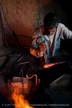 Glass blower . Afghanistan