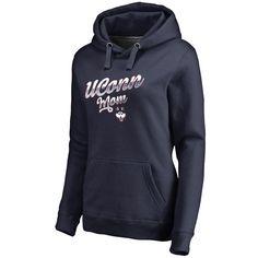 Women's Fanatics Branded Navy UConn Huskies Plus Sizes Team Mom Pullover Hoodie