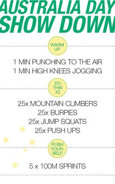 Aus Day Showdown - A 10 minute outdoor work-out! - Move Nourish Believe