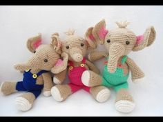 How to sew each part of elephant crochet - YouTube