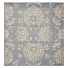 Safavieh - Floral Square Area Rug in Light Blue and Ivory