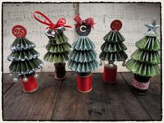 Holiday rosette trees courtesy of Tim Holtz