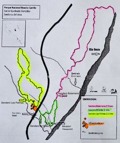 Trail Map of Braulio Carrillo National Park in Costa Rica