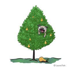 Adoreble x-Mas pug art.🐾❤️😍❣️ uploaded by Mone Cute Pugs, Cute Puppies, Brindle Pug, Teacup Pug, Pug Names, Pug Rescue, Pug Christmas, Pug Photos, Black Pug Puppies