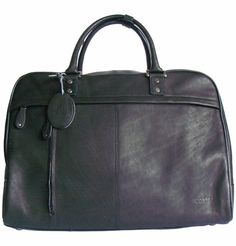 Men s Women s Cortez Black Leather Holdall Travel Bag 5e2c8b7273