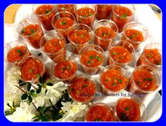 #Gazpacho Shooters make a great #appetizer when the tomato season starts momentarily! www.teatimeinc.com