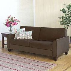 this is kind of cute, but very country in style (which isn't my favorite style), and it is only one really small brown couch)