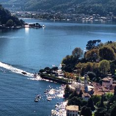 Sparkling water over lake Como,italy