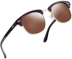 b12dfa19bdd3 Joopin Semi Rimless Polarized Sunglasses Women Men Brand Vintage Glasses  Plaroid Lens Sun Glasses (Brilliant