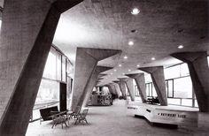 UNESCO Headquarters, Paris, 1952-58.  Marcel Breuer with Pier Luigi Nervi as engineer.