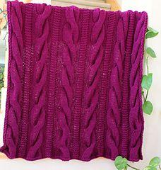 Ravelry: One Piece Willow Creek Throw pattern by Kalpna Kapoor