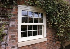 Eurocell's UPVC sliding sash windows combine the timeless aesthetic of traditional Georgian windows with modern thermal efficiency & security. New Home Windows, Cottage Windows, Upvc Windows, Dormer Windows, House Windows, Windows And Doors, Georgian Windows, Victorian Windows, Victorian Cottage
