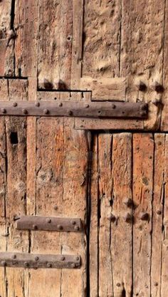 Picture of Detail of an antique wooden door, Valencia, Spain stock photo, images and stock photography. Antique Doors, Old Doors, Windows And Doors, Knobs And Knockers, Door Knobs, Peeling Paint, Valencia Spain, Wabi Sabi, Wooden Doors