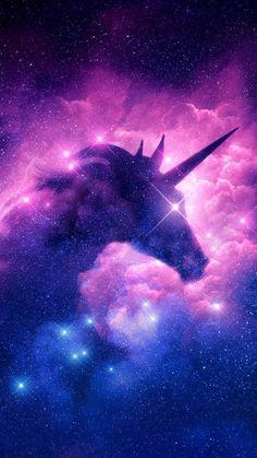Pink Unicorn Wallpaper, Unicorn Backgrounds, Cute Galaxy Wallpaper, Dark Wallpaper Iphone, Rainbow Wallpaper, Cute Wallpaper Backgrounds, Pretty Wallpapers, Unicorn Painting, Unicorn Art