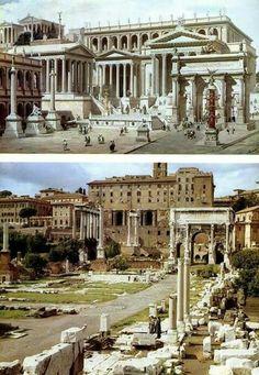 Foro de Roma. Antes y ahora