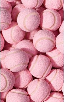 Pink tennis balls. What do you reckon... as seen at Wimbledon any time soon?