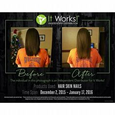 Before and after hair skin and nails