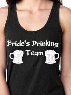 Tank Top- Wedding- Wedding Sleeveless Shirt- Bachelorette Party Shirt- Bridal Party Shirt- Drinking Team Shirt by BrideandGroomsCloset on Etsy