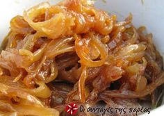 Caramelized Onion and Roasted Garlic Compote Recipe on Yummly Greek Recipes, Veggie Recipes, Cooking Recipes, Healthy Recipes, Mini Quiches, Compote Recipe, Vegetable Side Dishes, Roasted Garlic, Caramelized Onions