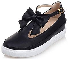 a90c882dc998 online shopping for IDIFU Women s Sweet Bow Low Heel Platform Wedge Sneakers  Ankle Strap Buckle Sandals from top store. See new offer for IDIFU Women s  ...