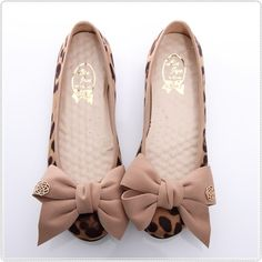 more leopard BN Romantic Bowed Ladies Wedding Ballet Flats Leopard Print Beige Red Black | eBay