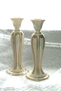 Vintage Pair China Lenox Vanguard Collection Candlesticks, Ivory Art Nouveau Candle Sticks, Lenox Candlesticks, Art Nouveau Home Decor, by HuldasTreasures on Etsy
