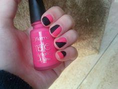 Matte pink&black