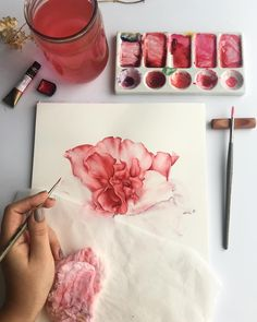 Marlette Remember Watercolor Unknown dimensions May 2019 Art Floral, Watercolor Flowers, Watercolor Paintings, Drawing Flowers, Watercolors, Watercolor Artists, Art Sketches, Art Drawings, Art Actuel