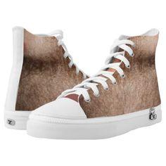 e_zazzle_man Customizable Hairy Zipz High Top Shoes