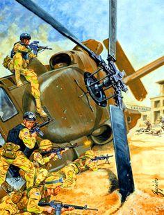 Black Hawk down- US forces in Mogadishu, Somalia