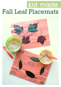 Kid Made Fall Placemats