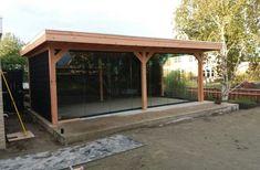 Overkapping Douglas 700 x 350 cm met plat dak Gazebo, Pergola, Lounge Areas, Backyard, Outdoor Structures, Garden, Home, Google, Kiosk