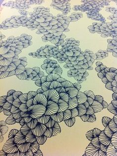 swenokur: recent work screen printed cotton. I would make my whole wardrobe out of this print if I could.