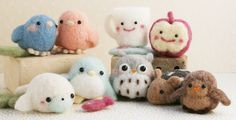 Super Cute varieties of needle felting buddies