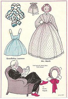 (⑅ ॣ•͈ᴗ•͈ ॣ)                                                            ✄Little Women paper dolls, Wee Wisdom