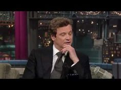 Colin Firth promotes 'The King's Speech' on The Late Show with David Letterman. Hot Actors, Actors & Actresses, King's Speech, Hugh Grant, Ralph Fiennes, Mr Darcy, Colin Firth, Roger Federer, Old Movies