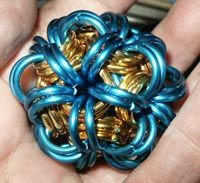 Step by step tutorial on how to make oriental 5-in-1 chain maille ball