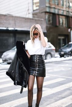 This skirt is amazing and I love how basic, but perfectly paired the shirt is.