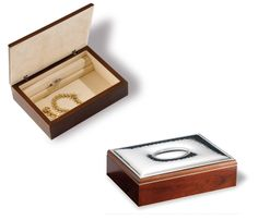 Italsilver: regalos para boda, bautizo y comuniones en plata: Caja de madera con chapa de plata para grabar.