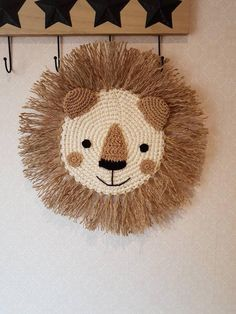 Home Decor ideas &Home Garden & Diy Lion Crochet, Crochet Animals, Crochet For Kids, Crochet Toys, Crochet Baby, Baby Knitting Patterns, Eclectic Nursery Decor, Animal Nursery, Lion Nursery