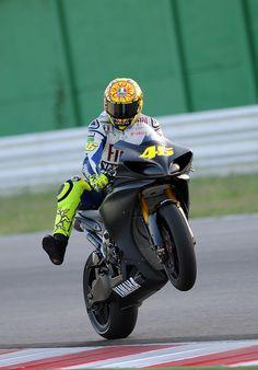 Valentino Rossi  Test a Misano Yamaha Team
