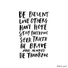 Be patient // by Susanna April