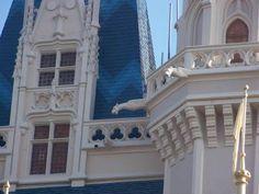 Cinderella Caste - A gargoyle atop the Cinderella Caste in the Magic Kingdom. Photo by PassPorter member Wendyismyname